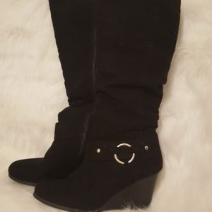 Beautiful Guess wedge knee-high boots